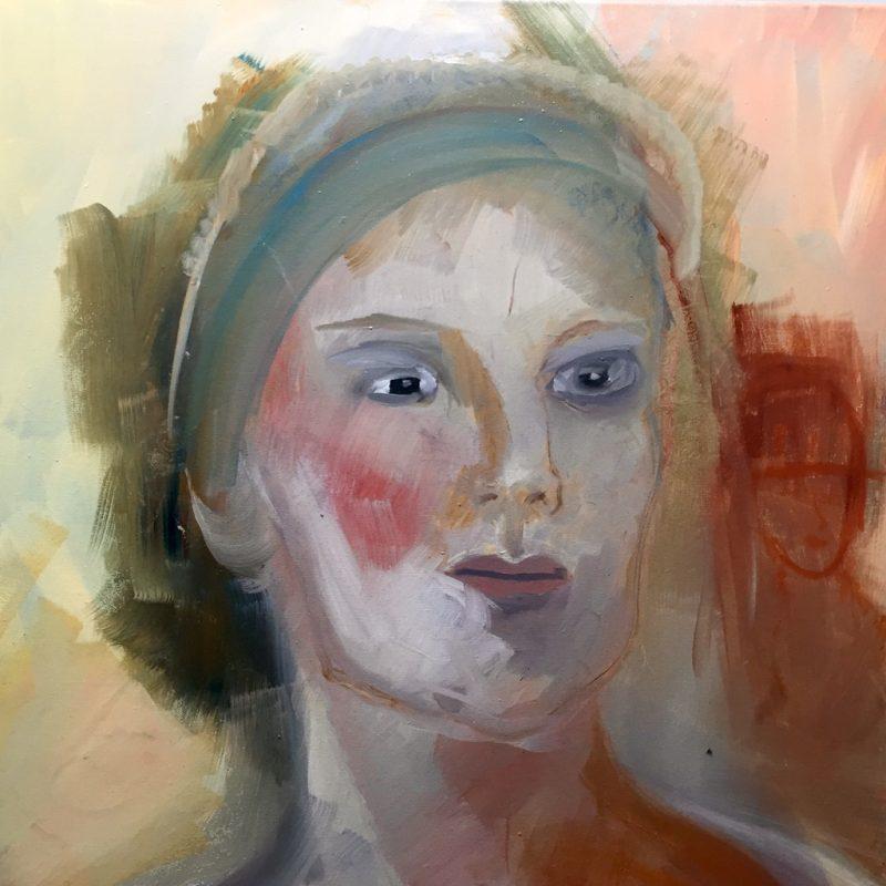 Frauenporträt, 30x30, oil on canvas
