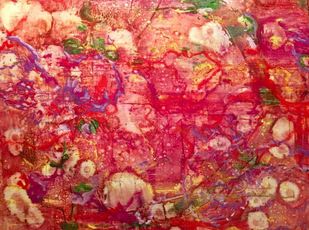 Weltenpuls, 80x100 oil on canvas