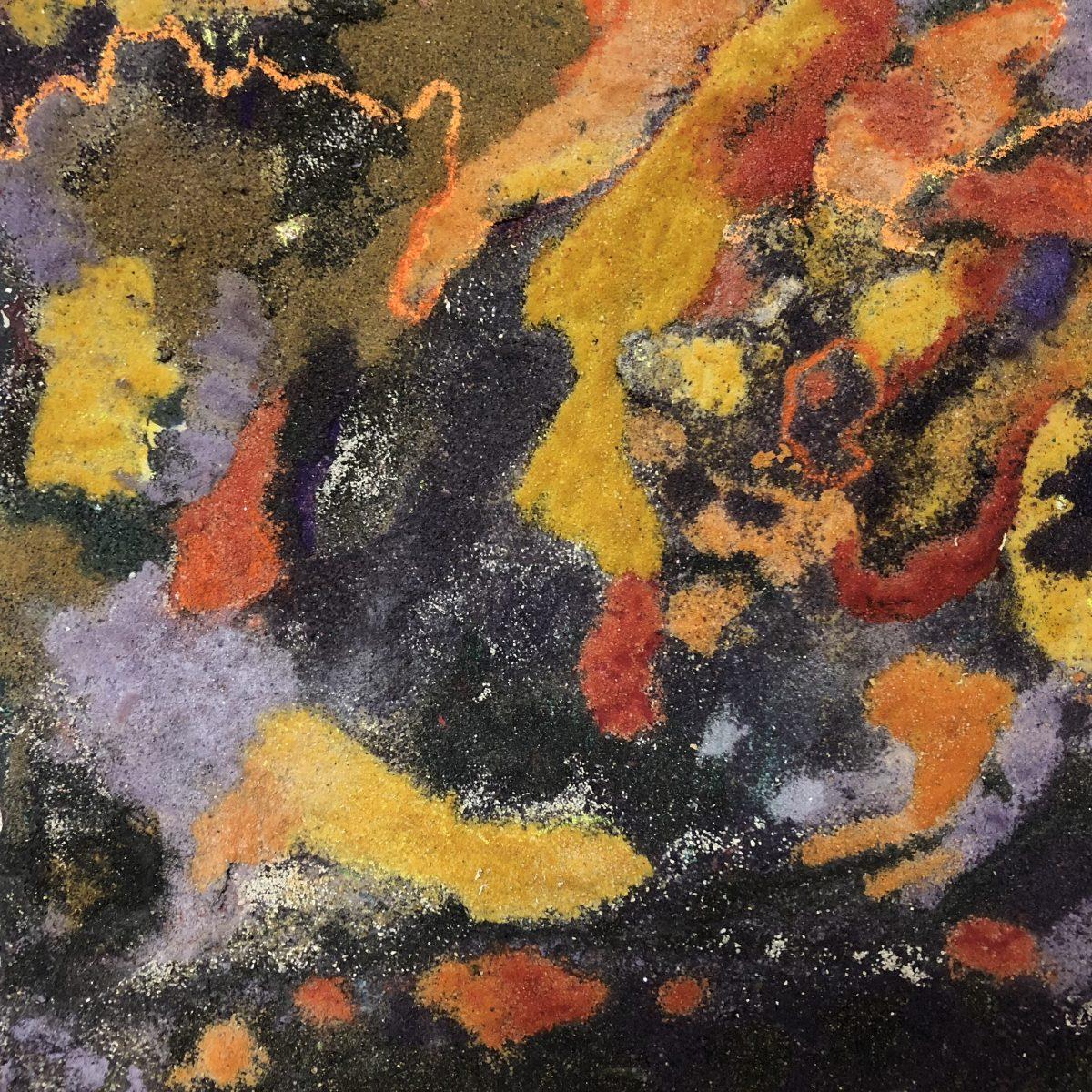 sand map 2, 30x30 sand on canvas