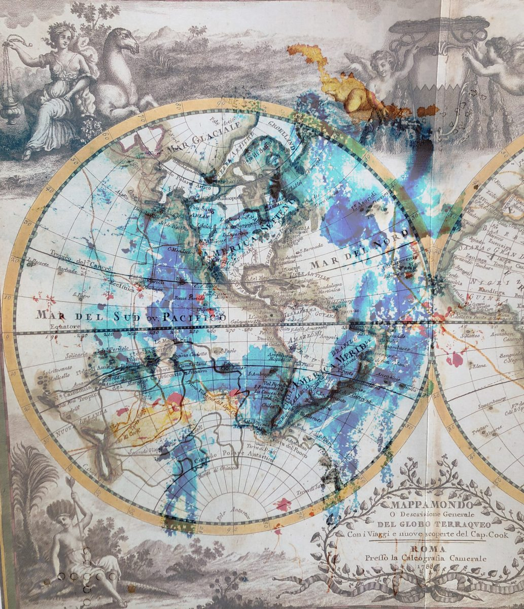Mappa Mundi Roma 1788, 99x86, Digitaldruck