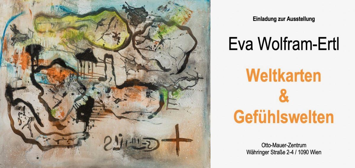 """Einladung Vernissage """"Weltkarten & Gefühlswelten"""", 15.10.2019"""