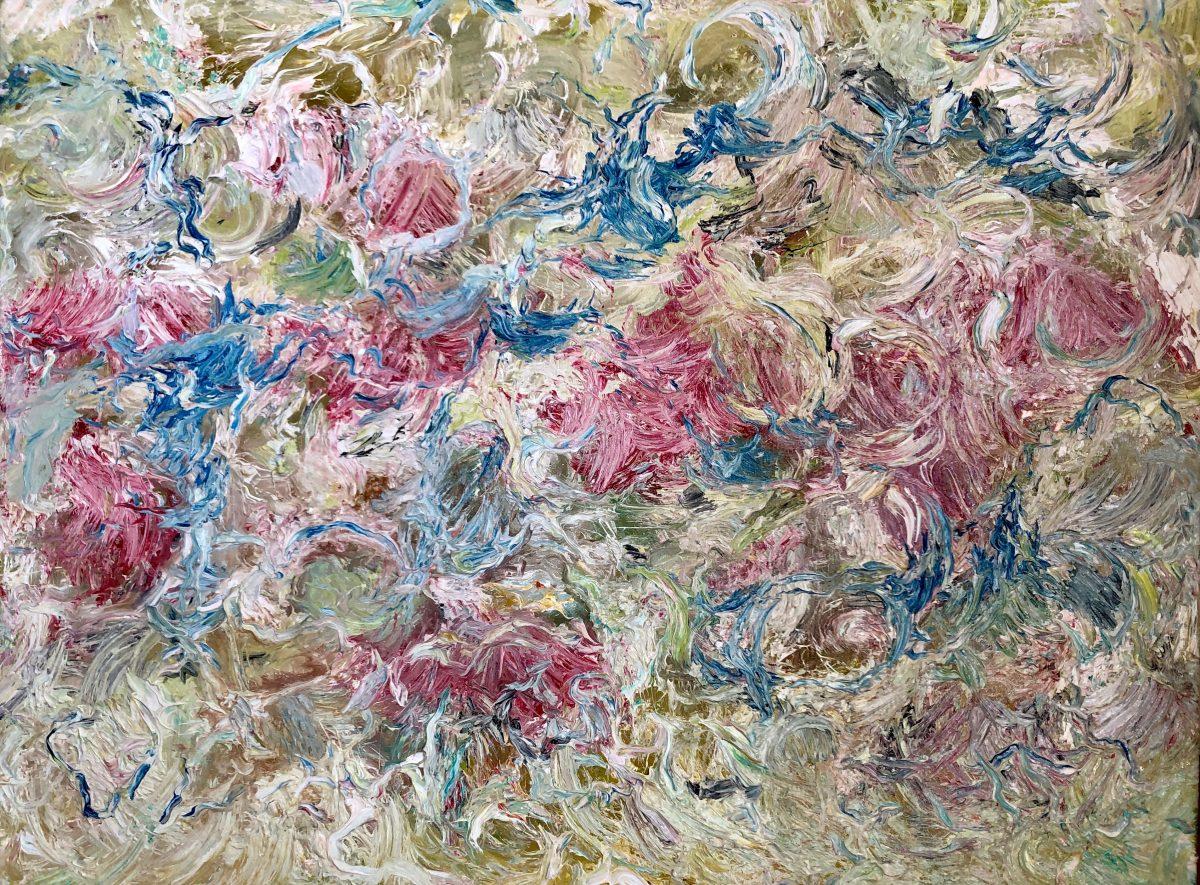 Des Meeres und der Liebe Wellen, 80x100, Öl auf Jute